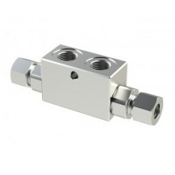 Clapet anti retour double piloté 1/4'' pour tube de 8 - VRDD140T8