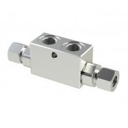 Clapet anti retour double piloté 1/4'' pour tube de 12 - VRDD140